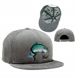 Casquette Visière Plate Poisson The Wilderness - Coal