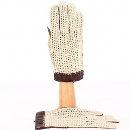 Gants de Conduite Cuir & Coton Marron - Glove Story