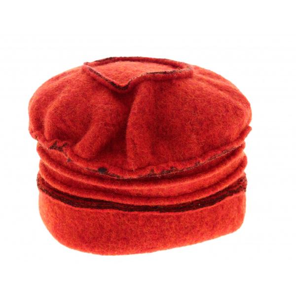 Bonnet Toque Inès Orange & Marron- Traclet