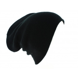 Bonnet Long Acrylique Noir - Beechfield