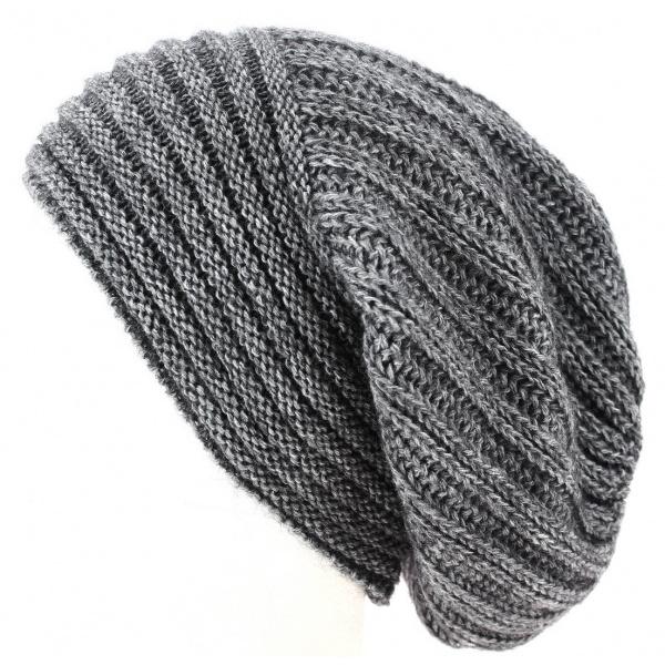 Bonnet Long Whistler Laine & Mohair Gris- Traclet