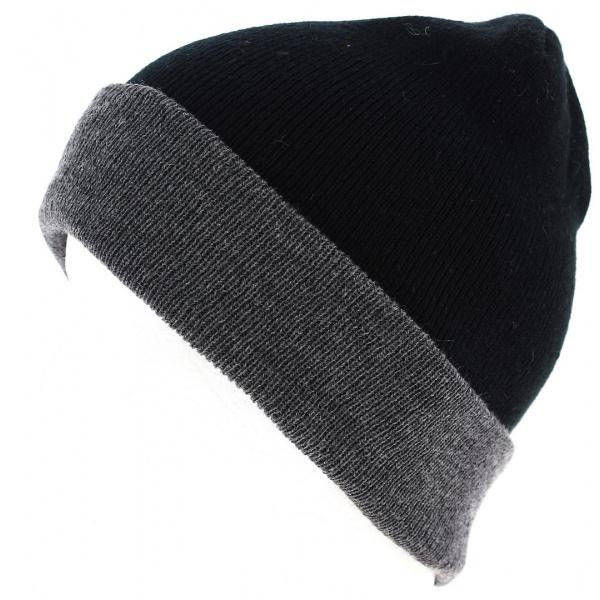 Bonnet Wind à Revers Gris/Noir- Traclet