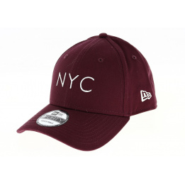 Casquette Baseball Essential 9FORTY NY Bordeaux - NEw Era