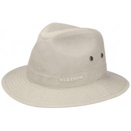 Chapeau Traveller Virginia Coton Biologique Beige-Stetson