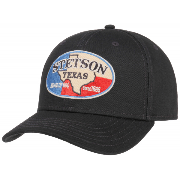 Casquette Baseball Texas Coton Noire - Stetson