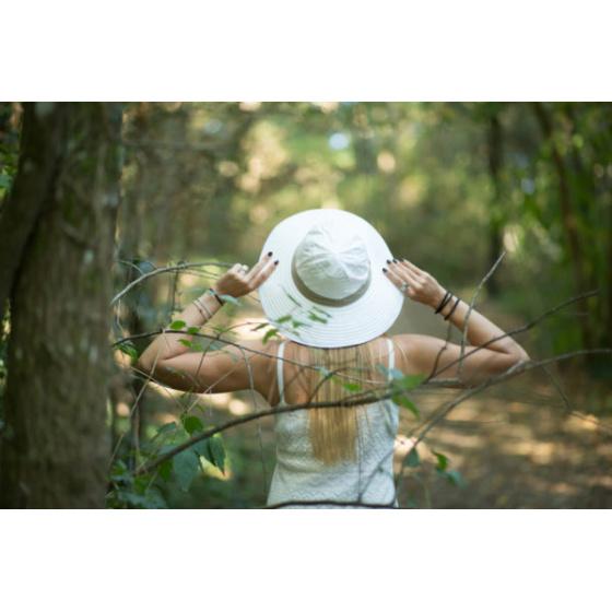 Chapeau Bob Naturel Asnelles Beige & Blanc - Soway