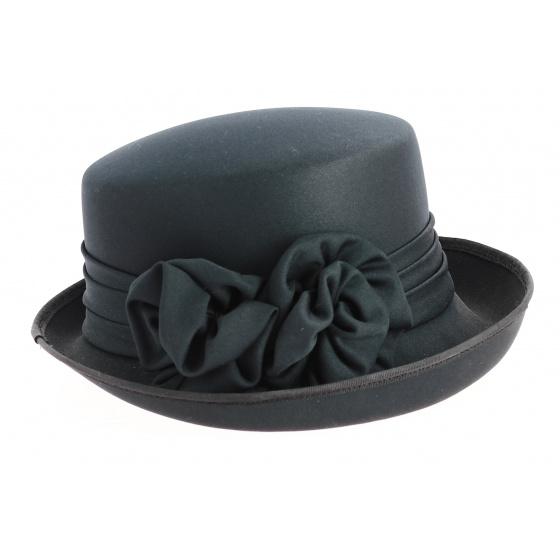 Breton women's hat Black fabric