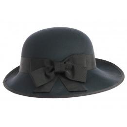 Chapeau cérémonie Marinas en Tissu noir