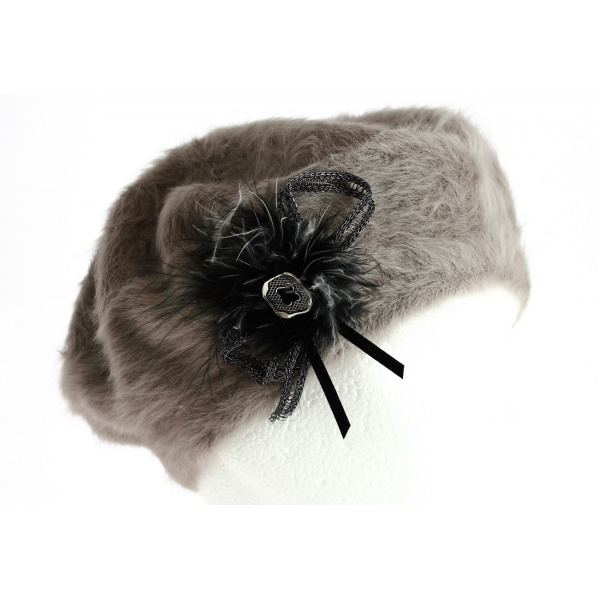 Béret Angora Charme Taupe- TRACLET