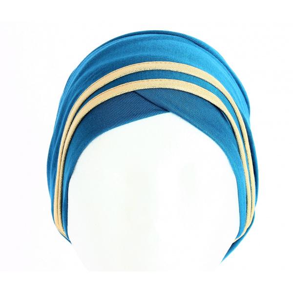 Turban Nubie Turquoise/Or