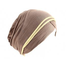 Turban chimiothérapie Nubie Taupe/Or