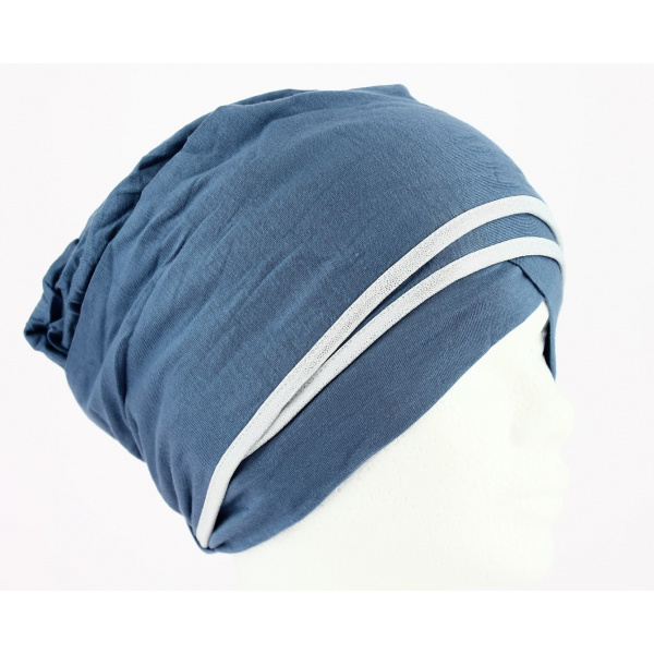 Turban Nubie Bleu/Argent