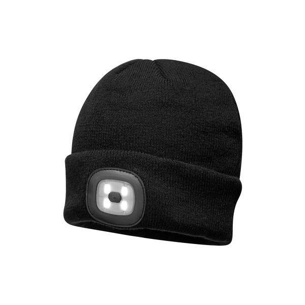 Bonnet Lampe Frontale à led noir