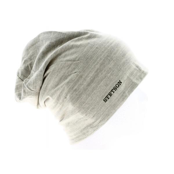 Bonnet Réversible Gris & Bleu Coton- Stetson
