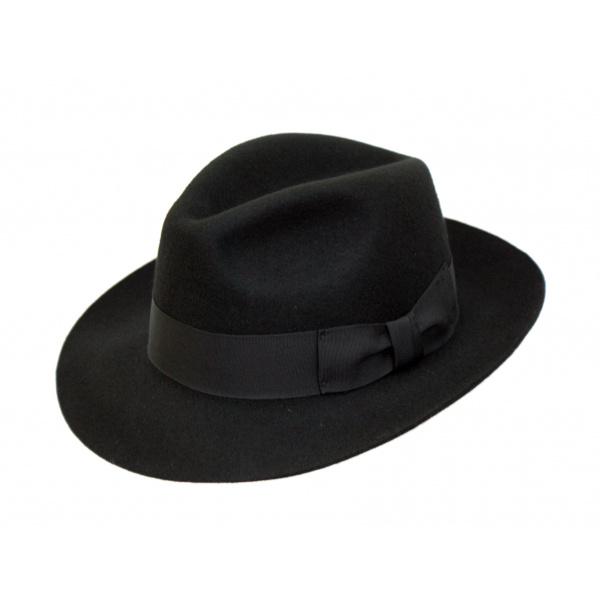 Chapeau Fedora Mayfair Feutre Laine Noir- Traclet