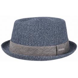 Chapeau Porkpie Robston Toyo Bleu- Stetson