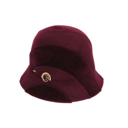 Chapeau Cloche Perry Prune- Mayser