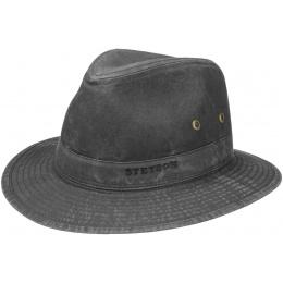 Chapeau Traveller Virginia Coton Biologique Noir-Stetson