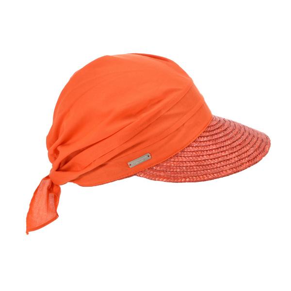 Casquette Alliance en paille  Orange -  Seeberger