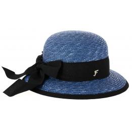 promo code 81825 e609b Chapeau Cloche Santornin Paille Bleu - Fléchet