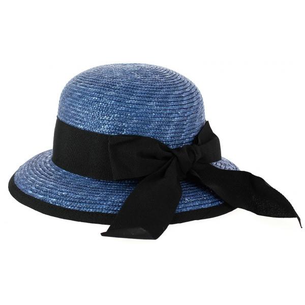 Chapeau Cloche Santornin Paille Bleu - Fléchet