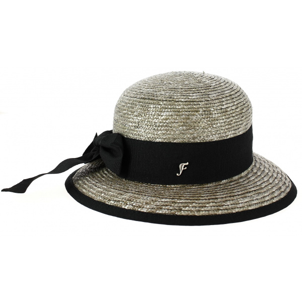 Santornin Straw Mole Bell Hat - Arrow