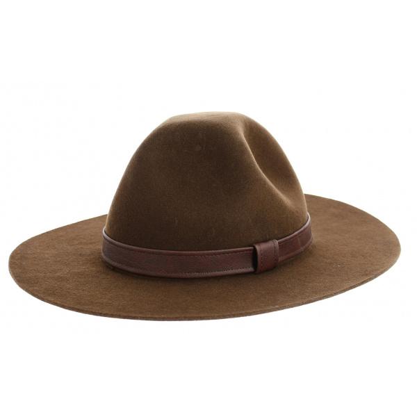 Chapeau Scout Feutre Laine Marron- Traclet