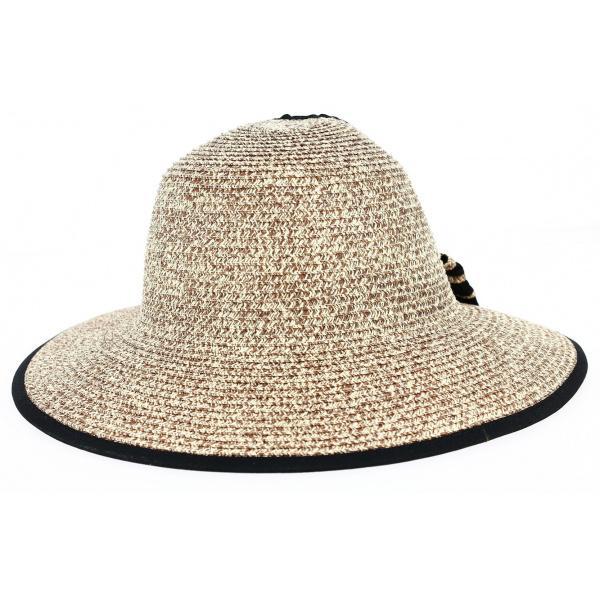 Chapeau Lou Grande Visière Beige- Traclet