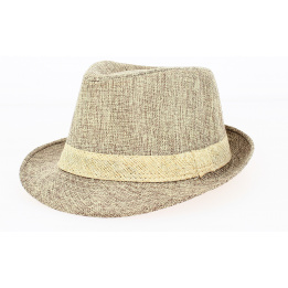 Chapeau Trilby California Lin Tabac- Traclet