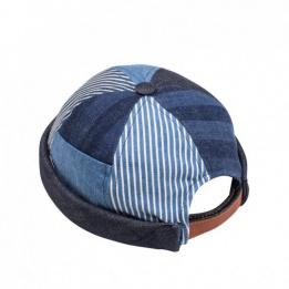 Miki Breton Patchwork Cotton Stripes - Waxed Concrete
