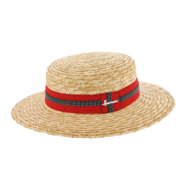 Boater Hat Apeldoorn Straw Red - Herman