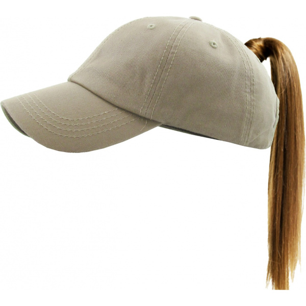 Casquette Baseball Femme Ponytail Beige- Traclet