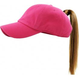 Casquette Baseball Femme Ponytail Rose- Traclet