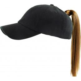 Classic Cap Ponytail Black- Traclet