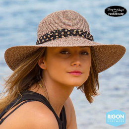 Capeline Poppy Monochrome Fibres Naturelles Marron- Rigon Headwear