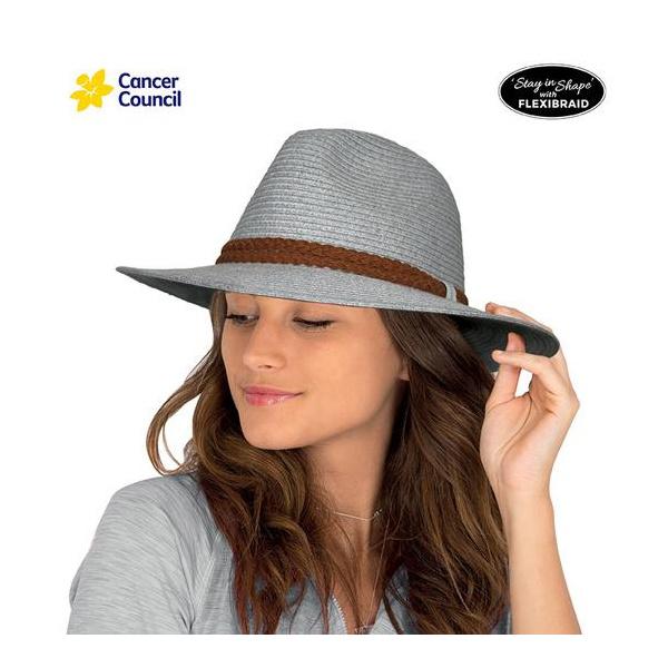 Chapeau Traveller Striped Fine Fibres Naturelles - Rigon Headwear