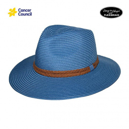 Chapeau Traveller Striped Fine Fibres Naturelles - Rigon Headwear