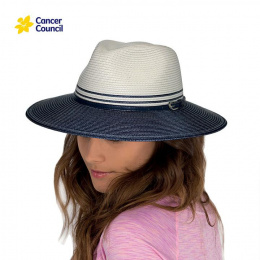 Chapeau Traveller Héritage Bicolore Blanc / Bleu Marine - Rigon Headwear