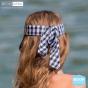 Visière Foulard Vichy Fibres Naturelles - Rigon Headwear