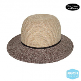 Chapeau Cloche Mia Fibres Naturelles Marron- Rigon Headwear