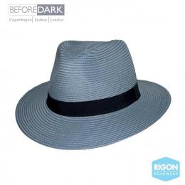 Chapeau Fedora Pana-Mate Fibres Naturelles Bleu Pétrole- Rigon Headwear