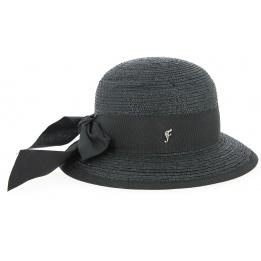 Chapeau Cloche Santornin Paille Noire- Fléchet