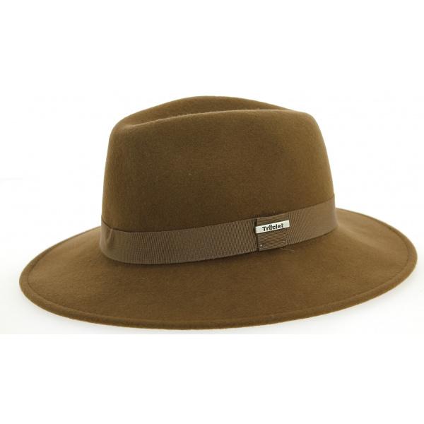 ef50c991b8449 Chapeau Traveller Indiana Jones Feutre Laine Fauve - Traclet