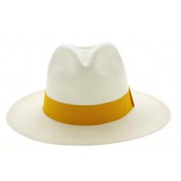 Chapeau Fédora Tanti Panama Blanc- Traclet