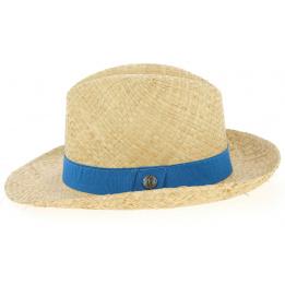 Chapeau Fédora Clapton Paille Raffia Beige - Traclet