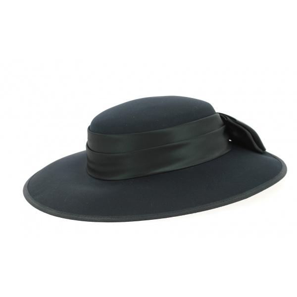 Chapeau de Cérémonie Sylvia Noir - Traclet
