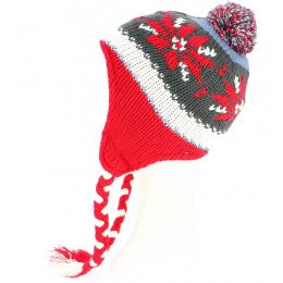 Bonnet péruvien enfant rouge