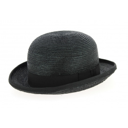 Hat bowler in straw