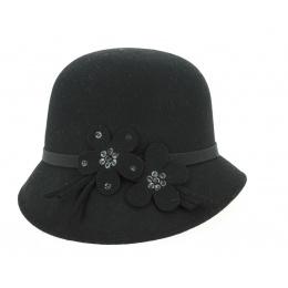 Chapeau Cloche Maithe Feutre Laine Noir- Traclet