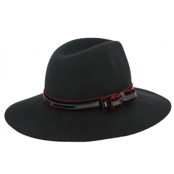 Chapeau Traveller Leonardo Feutre Laine Noir- Traclet